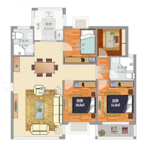 华光城5室1厅2卫1厨122.00㎡户型图