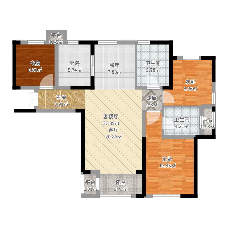 天津_新湖公寓_2017-04-27-2017户型图