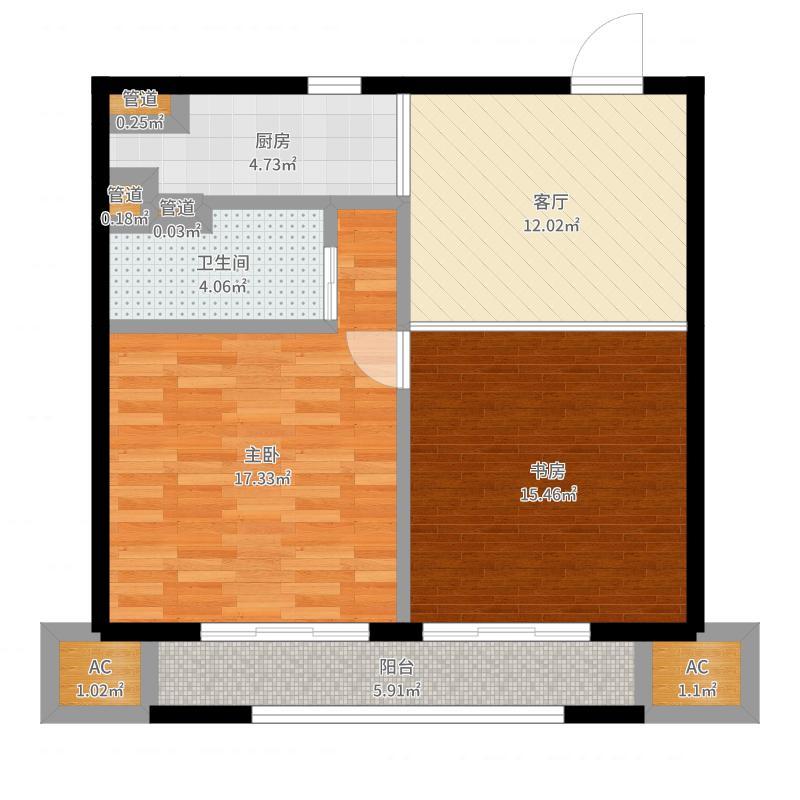 华润外滩九里国际公寓户型图