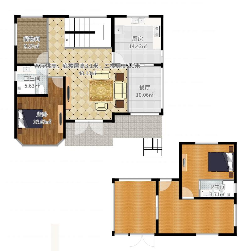 底楼设计方案4-副本-副本户型图