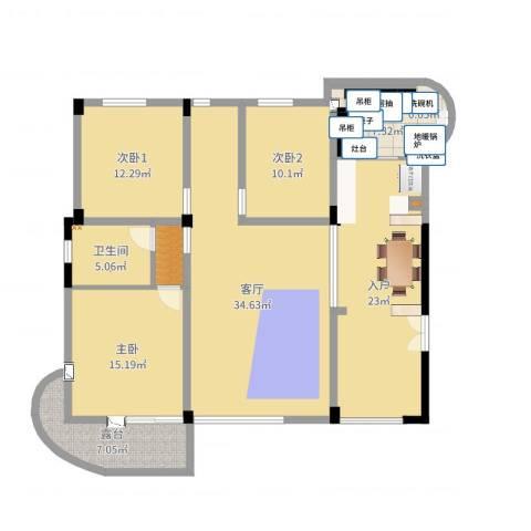 CLD未来城四期1室1厅1卫1厨116.58㎡户型图