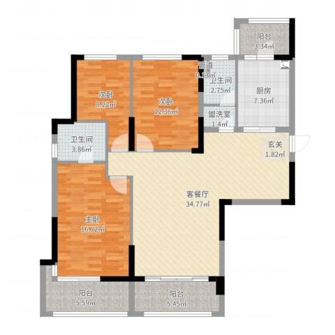 池州碧桂园3室4厅2卫1厨127.00㎡户型图
