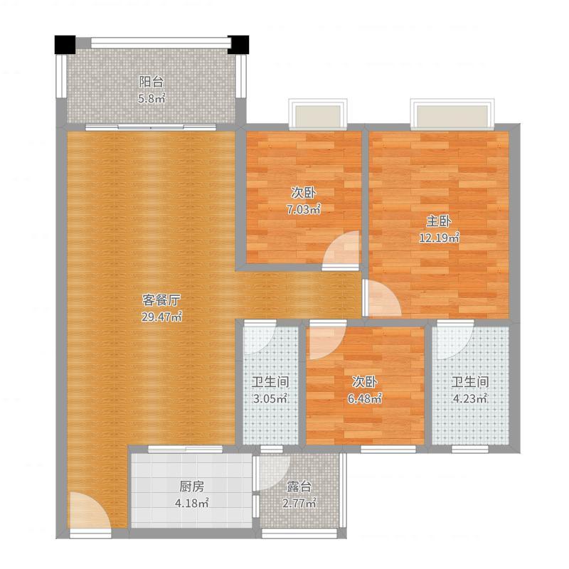 华英城汇景湾4D现代简约风格--大东设计