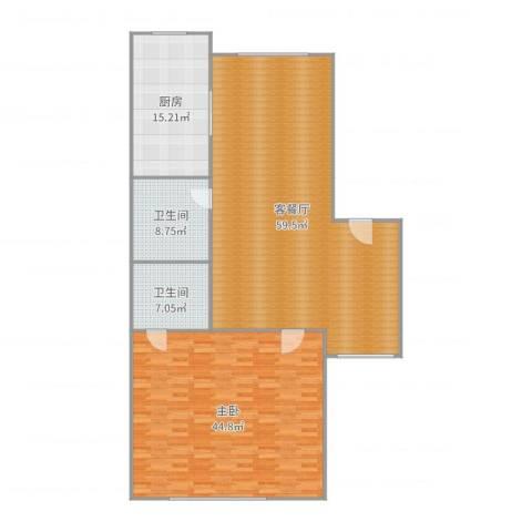 观音寺南里1室2厅2卫1厨169.00㎡户型图