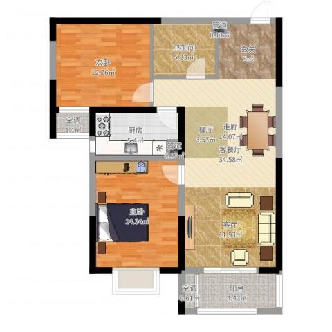 隆昊昊天园2室2厅5卫1厨98.00㎡户型图