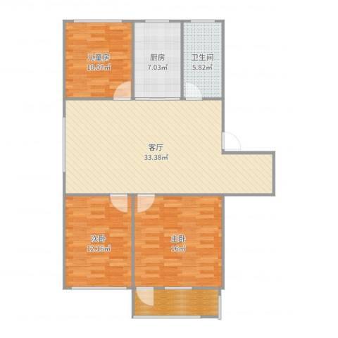 琅琊新村3室1厅1卫1厨111.00㎡户型图