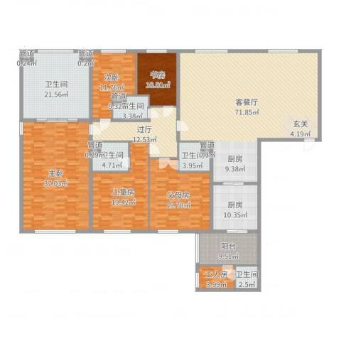 太原茂业天地4室2厅5卫1厨305.00㎡户型图
