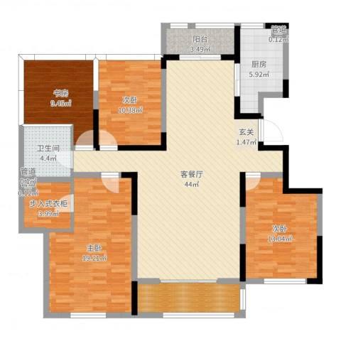 赛德馨苑4室2厅4卫1厨150.00㎡户型图