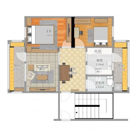 河北医科大学宿舍1室1厅1卫1厨50.00㎡户型图