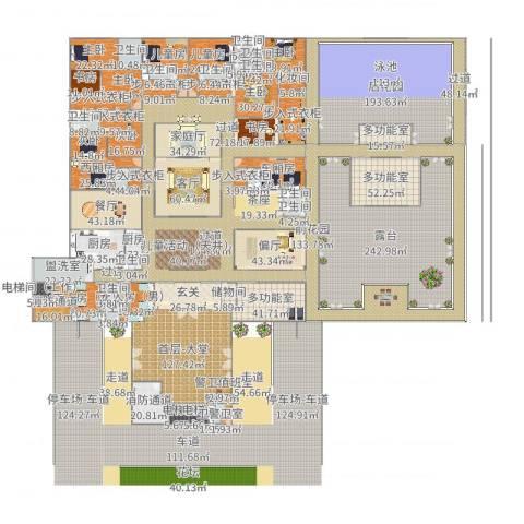 超-现代四合院9室4厅9卫2厨2338.00㎡户型图