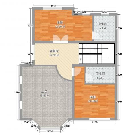 顺鑫望潮苑二期2室2厅2卫0厨244.00㎡户型图