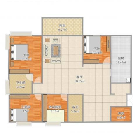 解甲园4室1厅2卫1厨183.00㎡户型图