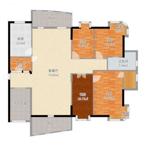 金裕碧水湾4室2厅1卫1厨254.00㎡户型图