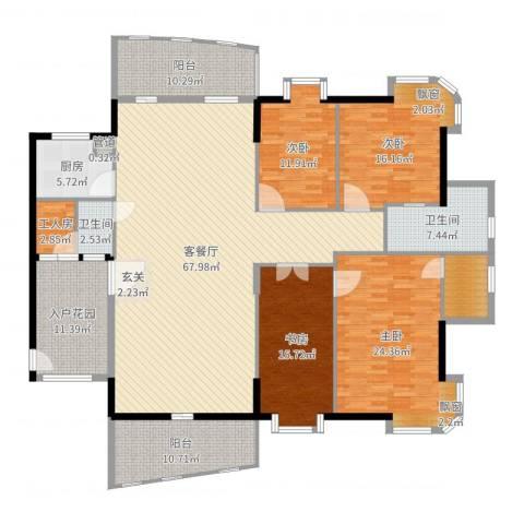 金裕碧水湾4室2厅2卫1厨239.00㎡户型图