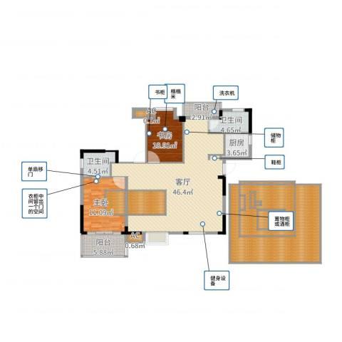 黄州宇济一号2室1厅2卫1厨177.00㎡户型图