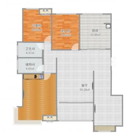 通州区南湖学府2室1厅1卫1厨158.00㎡户型图