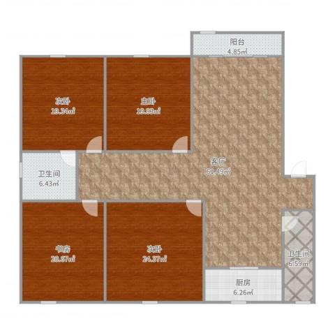 锦江半岛4室1厅2卫1厨212.00㎡户型图