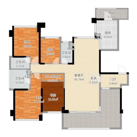 绿岛湖壹号3室2厅3卫1厨196.00㎡户型图