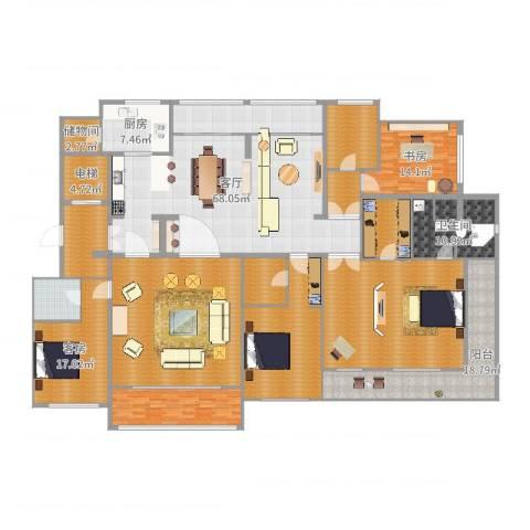 昆山同进君望1室1厅1卫1厨358.00㎡户型图