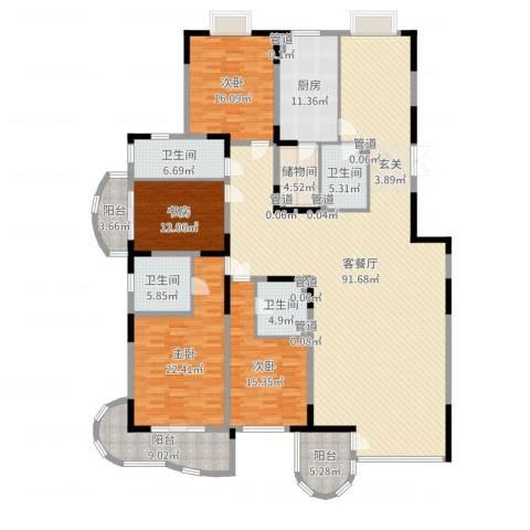 新世纪豪园4室2厅4卫1厨268.00㎡户型图
