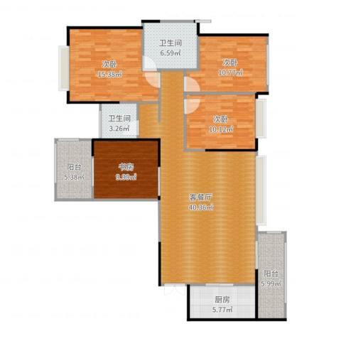 建发中央鹭洲4室2厅2卫1厨142.00㎡户型图