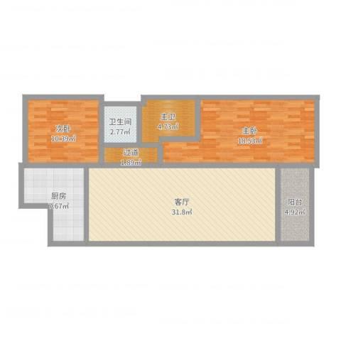 伊泰CEO国际中心2室1厅1卫1厨103.00㎡户型图