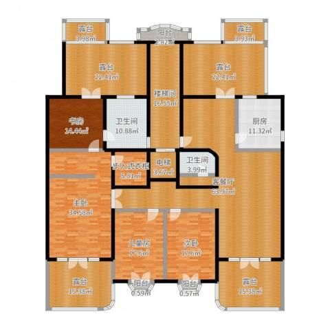 万泉新新家园4室2厅4卫1厨360.00㎡户型图
