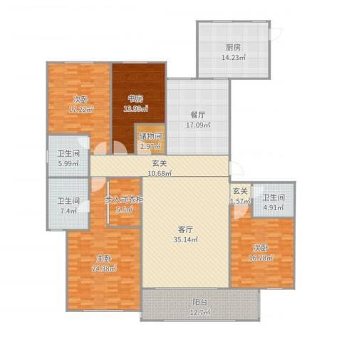 金海岸名邸4室2厅3卫1厨238.00㎡户型图