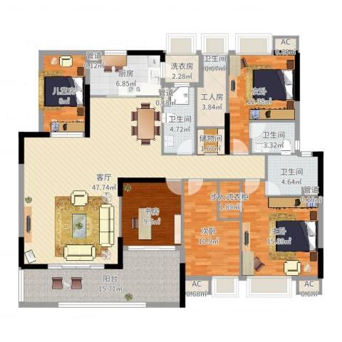 保利108公馆5室1厅4卫1厨191.00㎡户型图