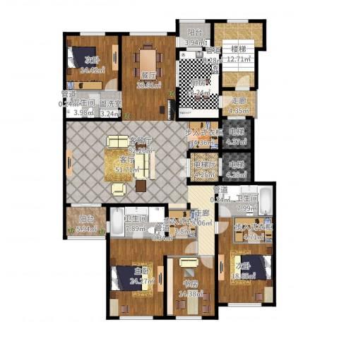 大华清水湾花园三期华府樟园4室2厅3卫1厨274.00㎡户型图