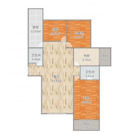 阳光丽城4室1厅2卫1厨179.00㎡户型图
