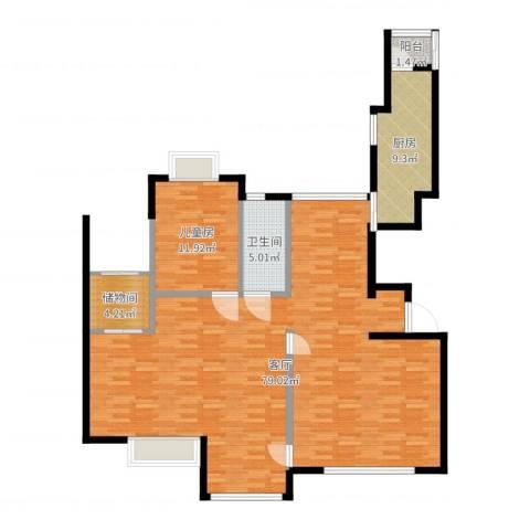 金广东海岸二期1室1厅1卫1厨139.00㎡户型图