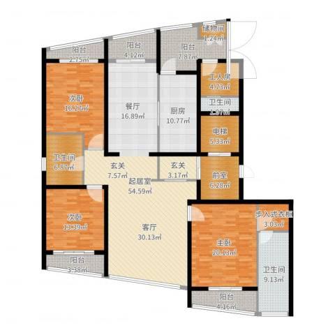 湖滨御景花园5室1厅3卫1厨224.00㎡户型图
