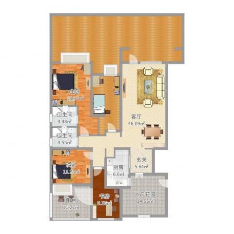 首创澜茵山3室1厅2卫1厨246.00㎡户型图