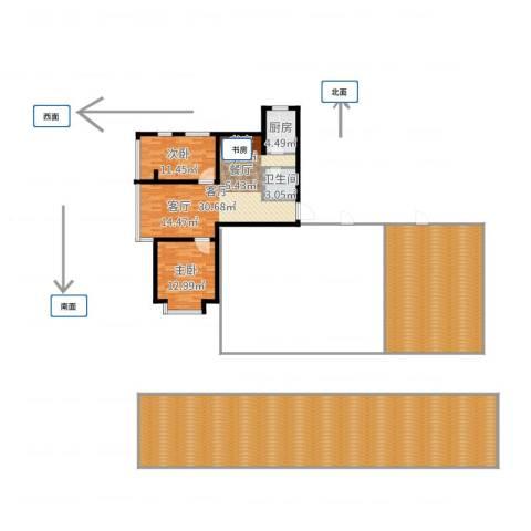 中海国际公寓2室1厅1卫1厨244.00㎡户型图