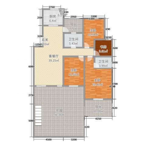 帝景观澜4室2厅2卫1厨176.94㎡户型图