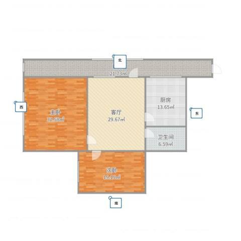 马甸南村9号楼1单元9082室1厅1卫1厨154.00㎡户型图