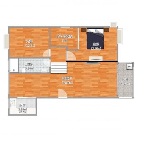 东苑古龙城2室2厅1卫1厨97.00㎡户型图