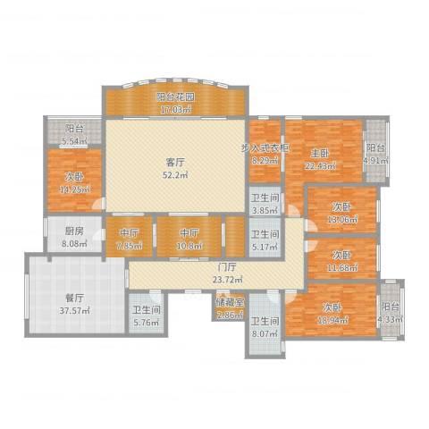 万佳裕园5室2厅4卫1厨352.00㎡户型图