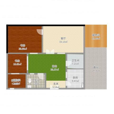 青龙湖山水四合院1室1厅1卫1厨168.00㎡户型图