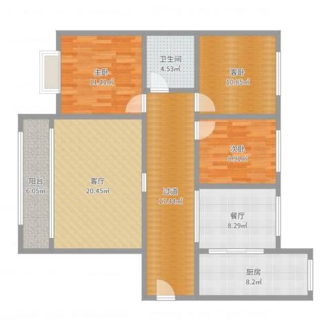 馨雅如20-1-8043室2厅1卫1厨120.00㎡户型图