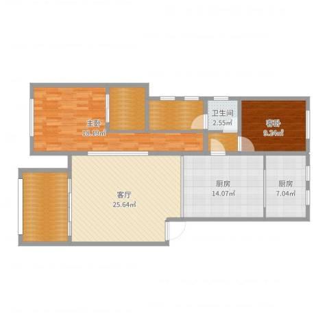 红豆美墅公园里55-2022室1厅1卫2厨120.00㎡户型图