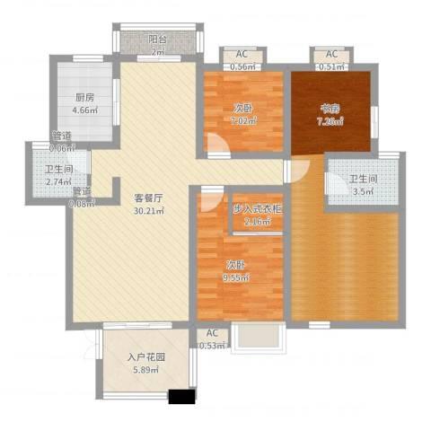 优山美地2室2厅2卫1厨114.00㎡户型图