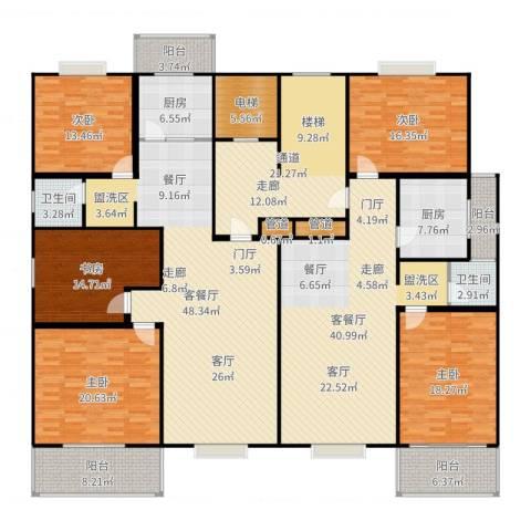曲江汇景新都5室4厅2卫2厨304.00㎡户型图