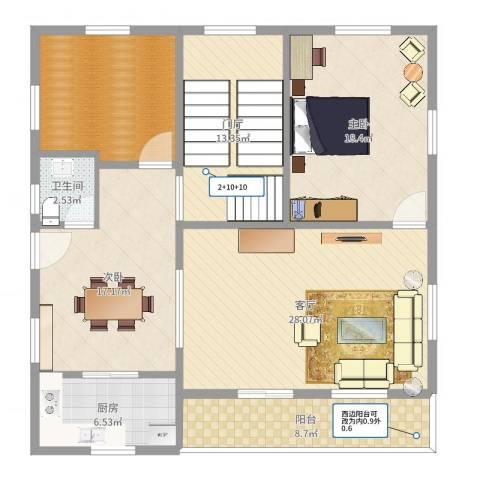 IOI棕榈城2室1厅1卫1厨133.00㎡户型图