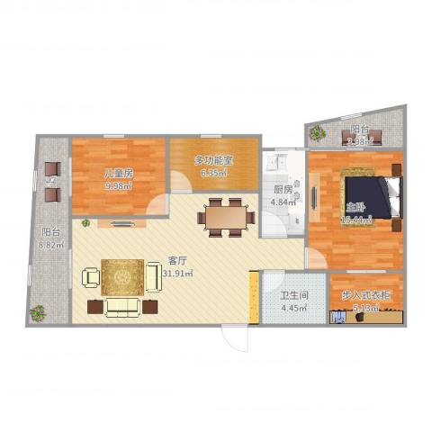协诚中心大厦公寓2室1厅1卫1厨114.00㎡户型图