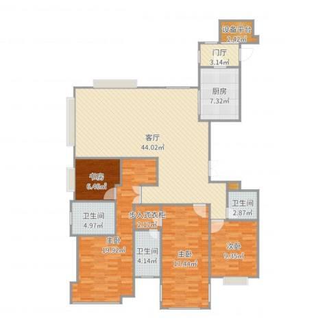东海府江天墅4室1厅3卫1厨156.00㎡户型图