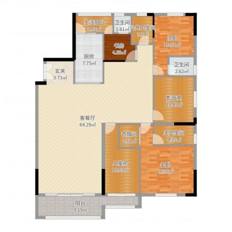 顺丰翠园4室2厅2卫1厨190.00㎡户型图