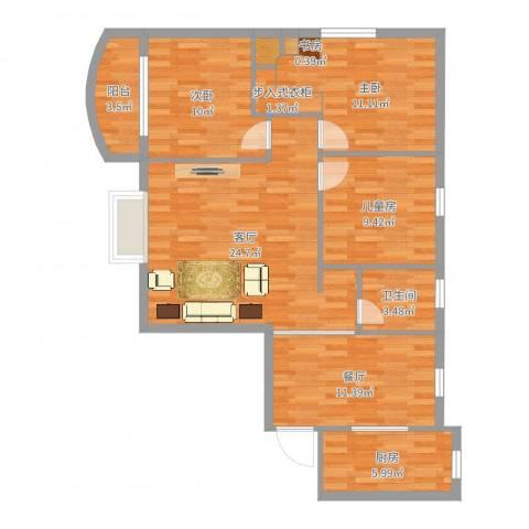 金龙大厦4室2厅1卫1厨103.00㎡户型图
