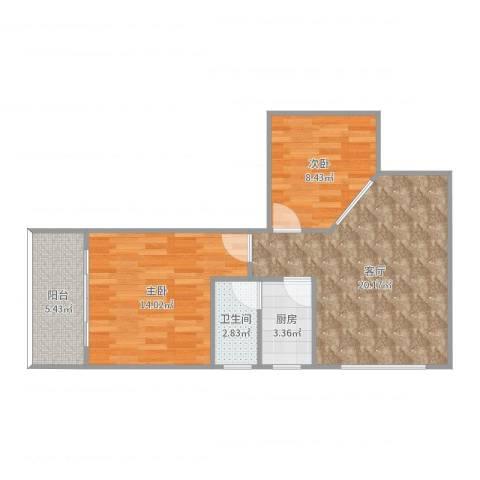 粤华楼7062室1厅1卫1厨68.00㎡户型图